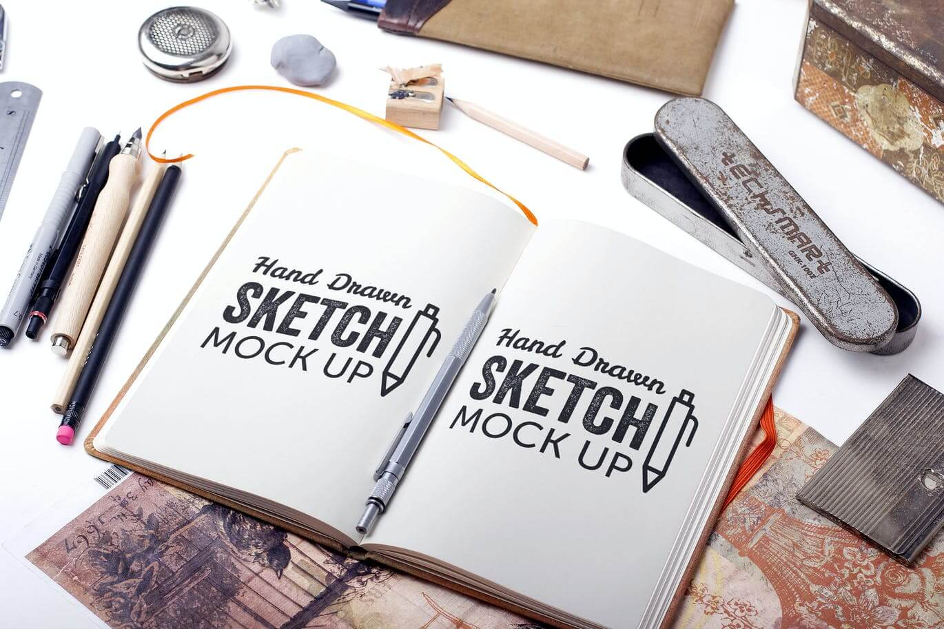 Sketch And Drawing Mockup Template #6