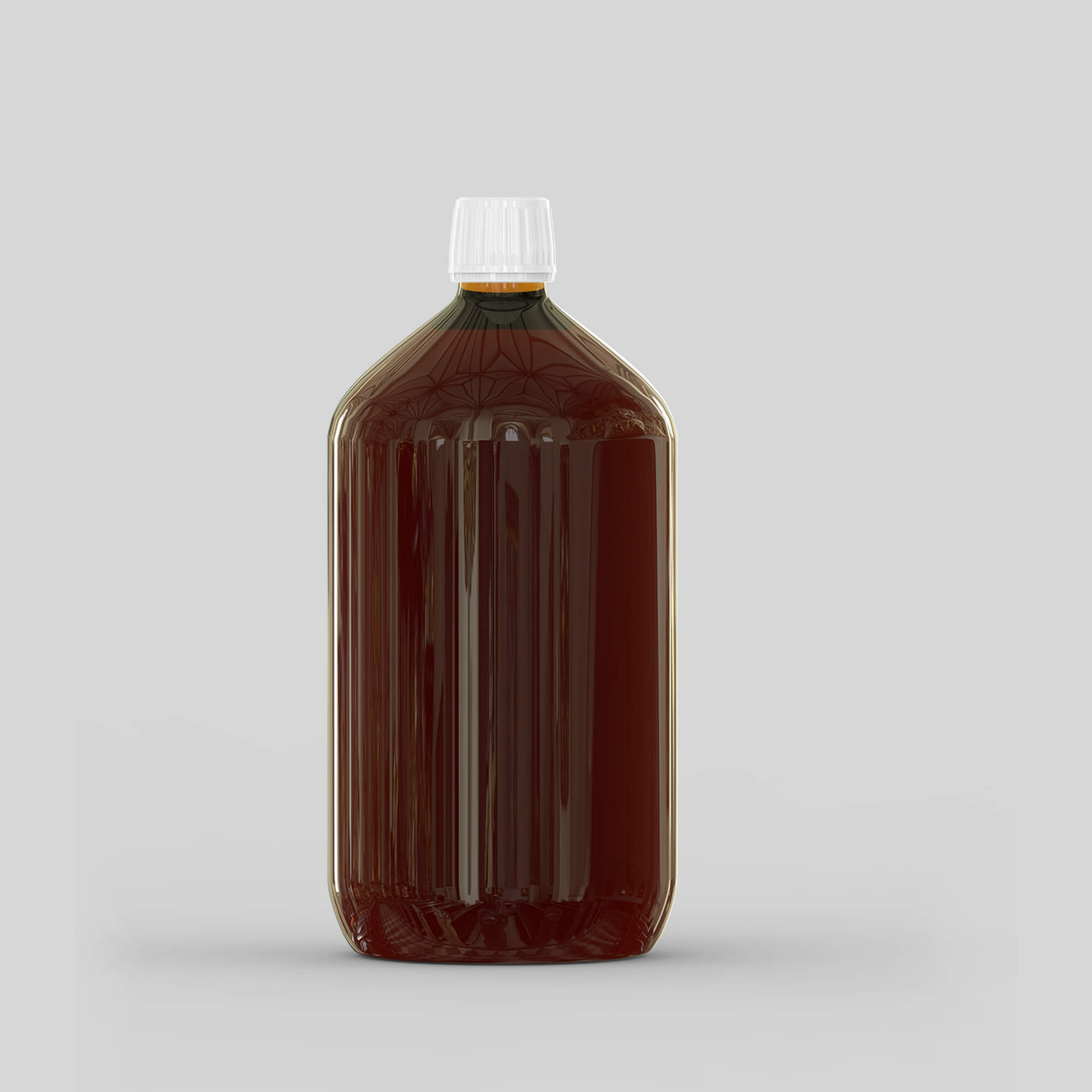 Blank Free Plastic Syrup Bottle Mockup PSD Template