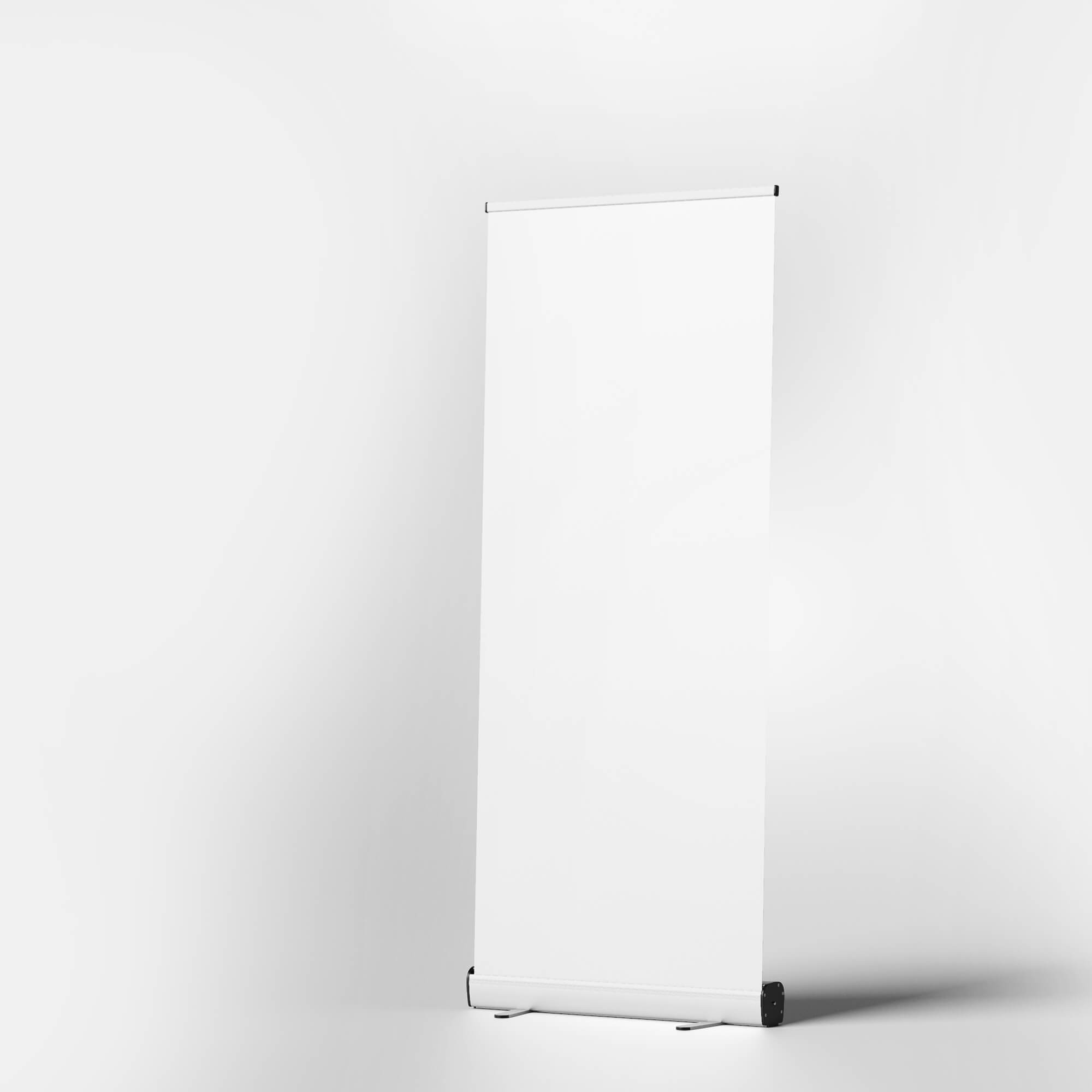 Blank Free Stand Up Banner Mockup PSD Template