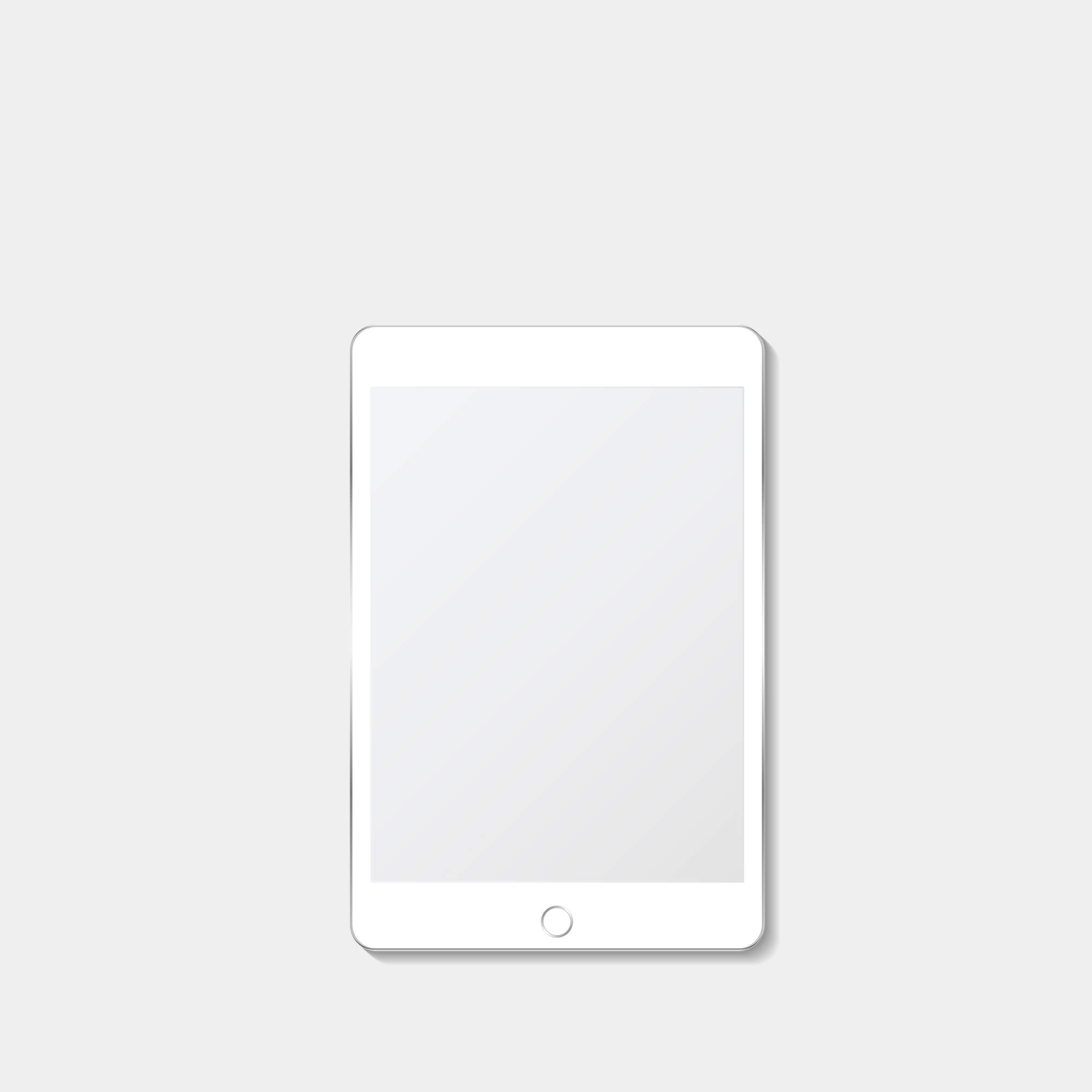 Blank Free Tablet Screen Mockup PSD Template