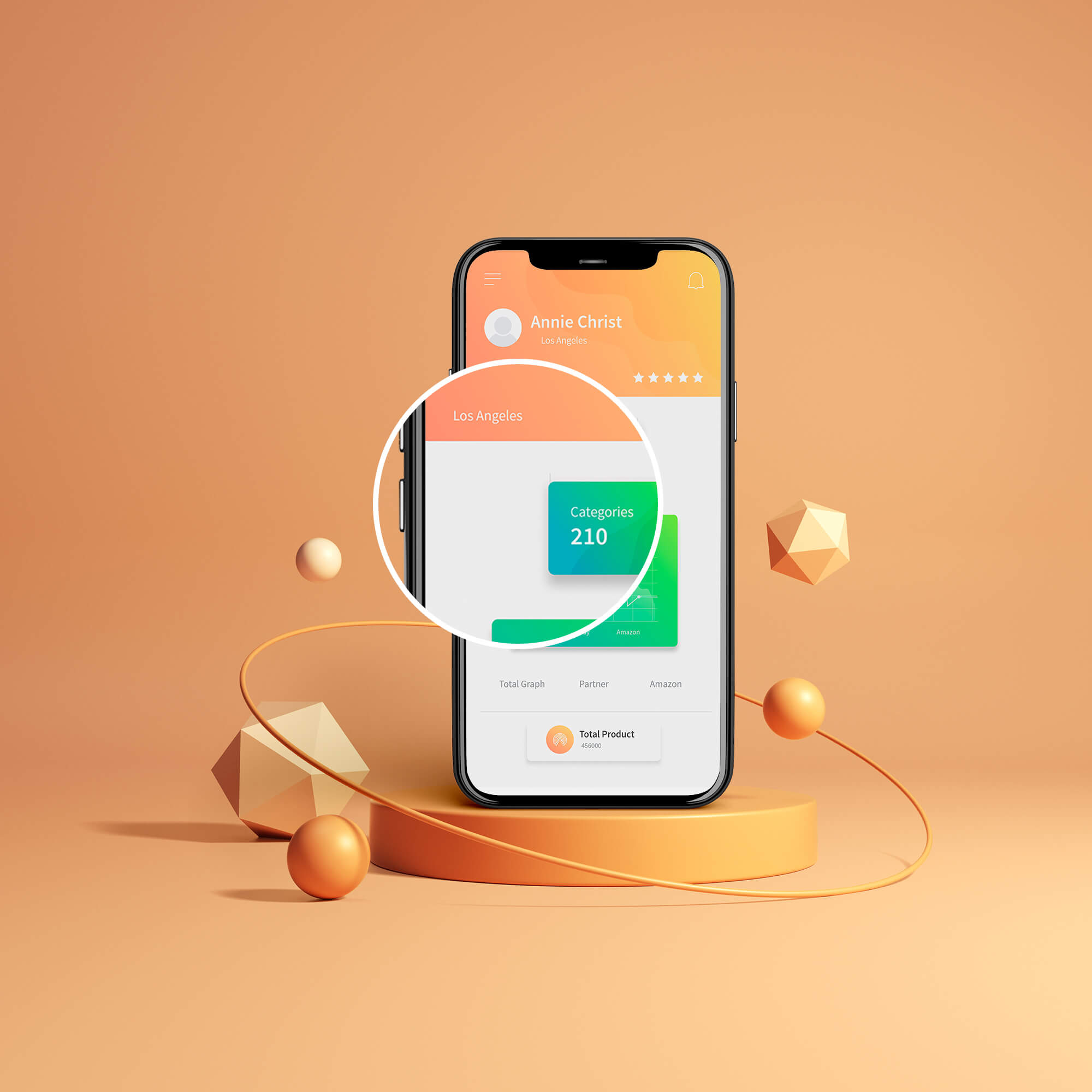 Close Up Of a Free App Mockup PSD Template