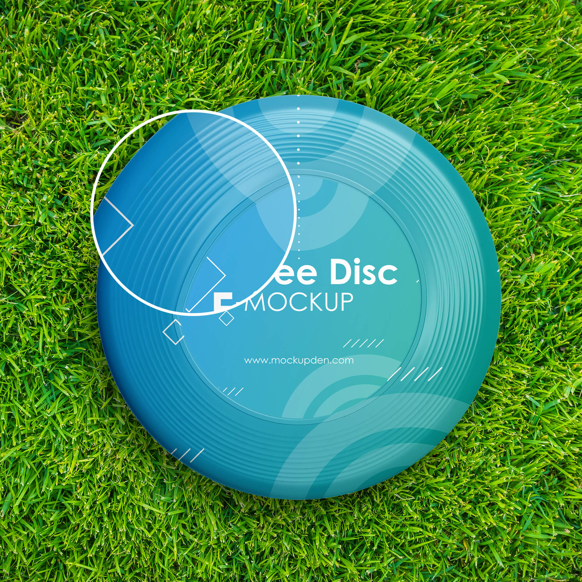 Close Up Of a Free Frisbee Disc Mockup PSD Template