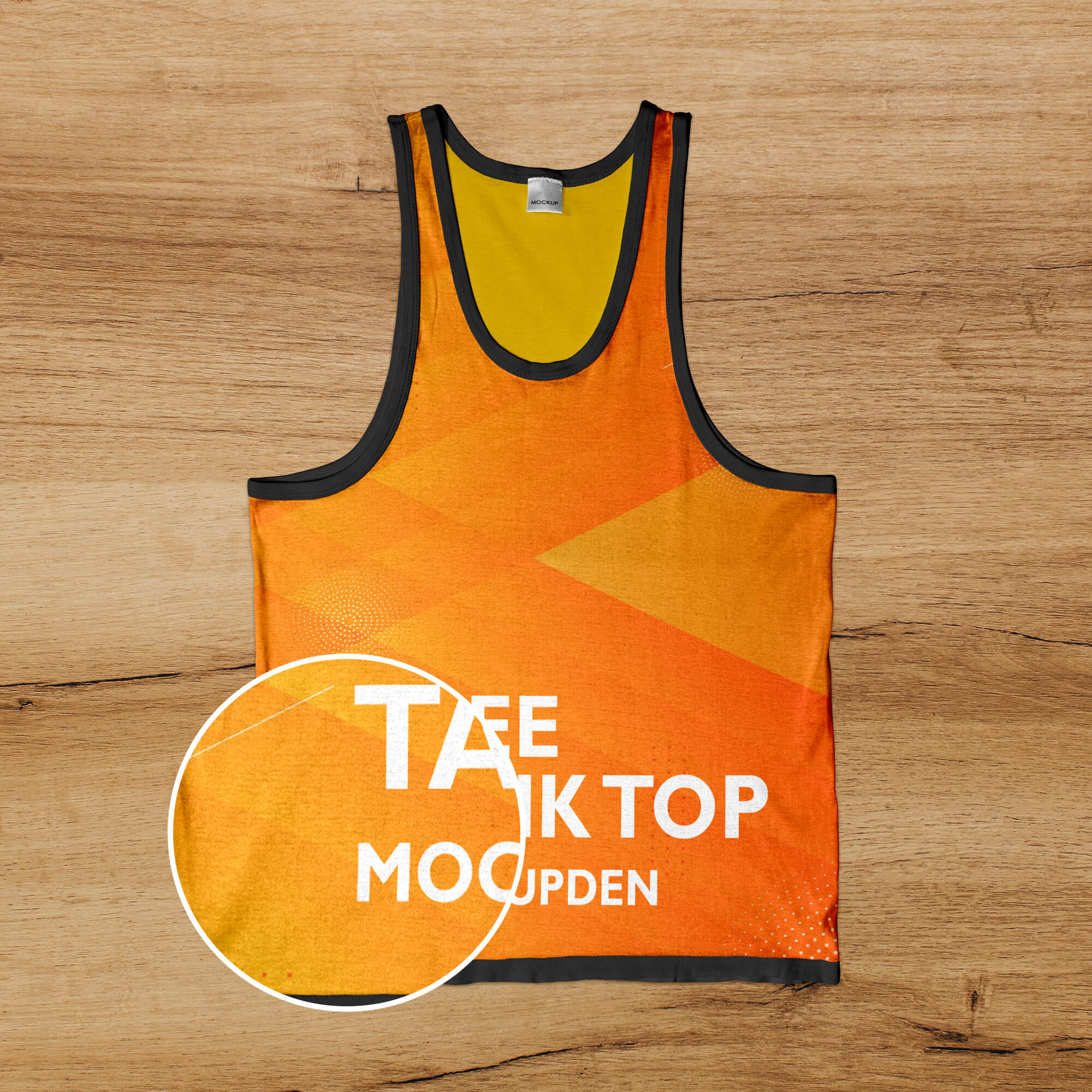 Close Up Of a Free Tank Top Template Mockup PSD