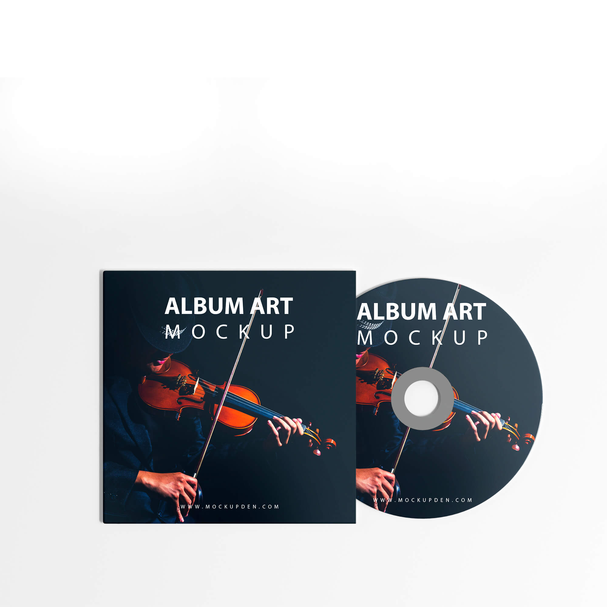 Design Free Album Art Mockup PSD Template
