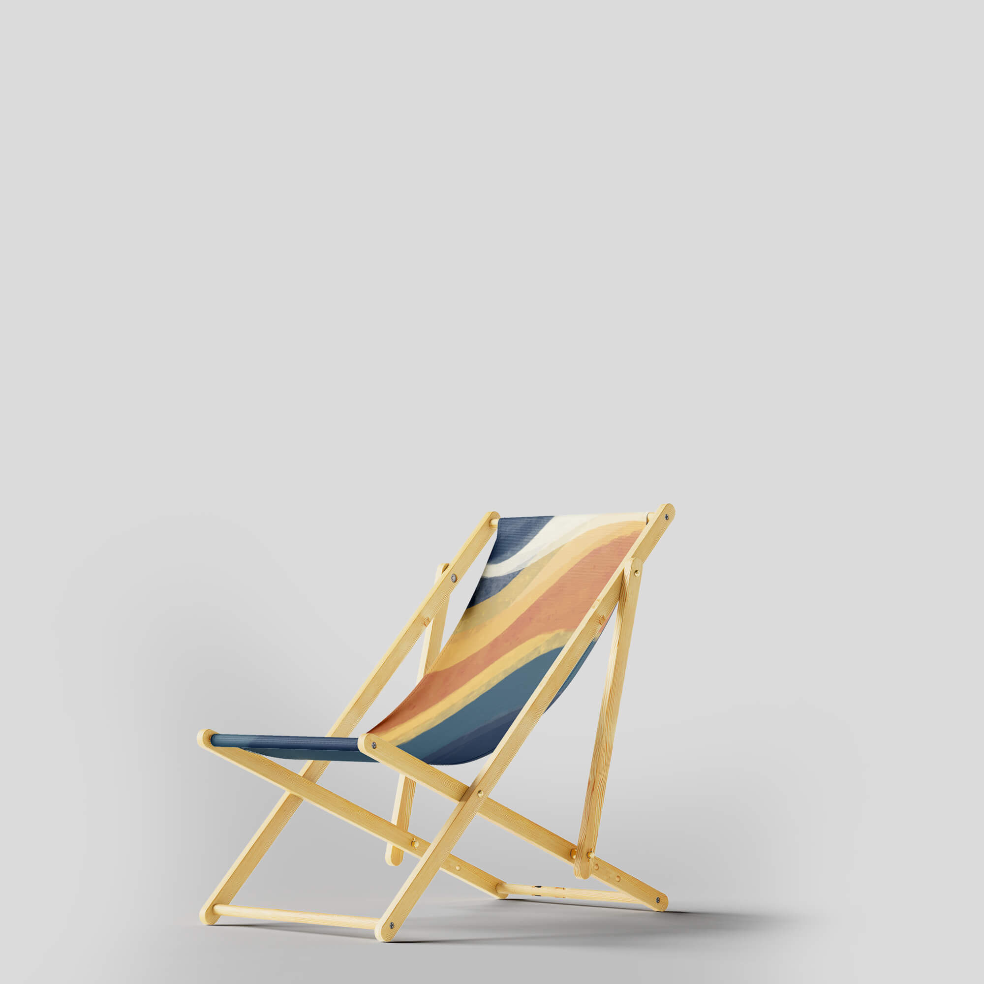 Design Free Beach Chair Mockups PSD Template