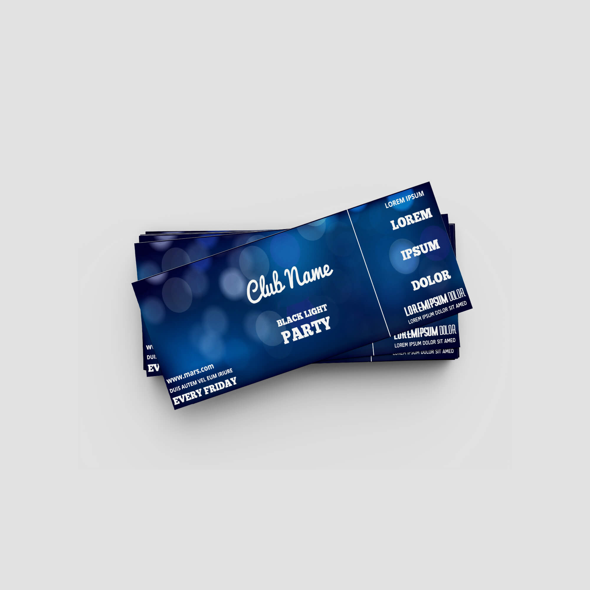 Design Free Event Ticket Mockup PSD Template