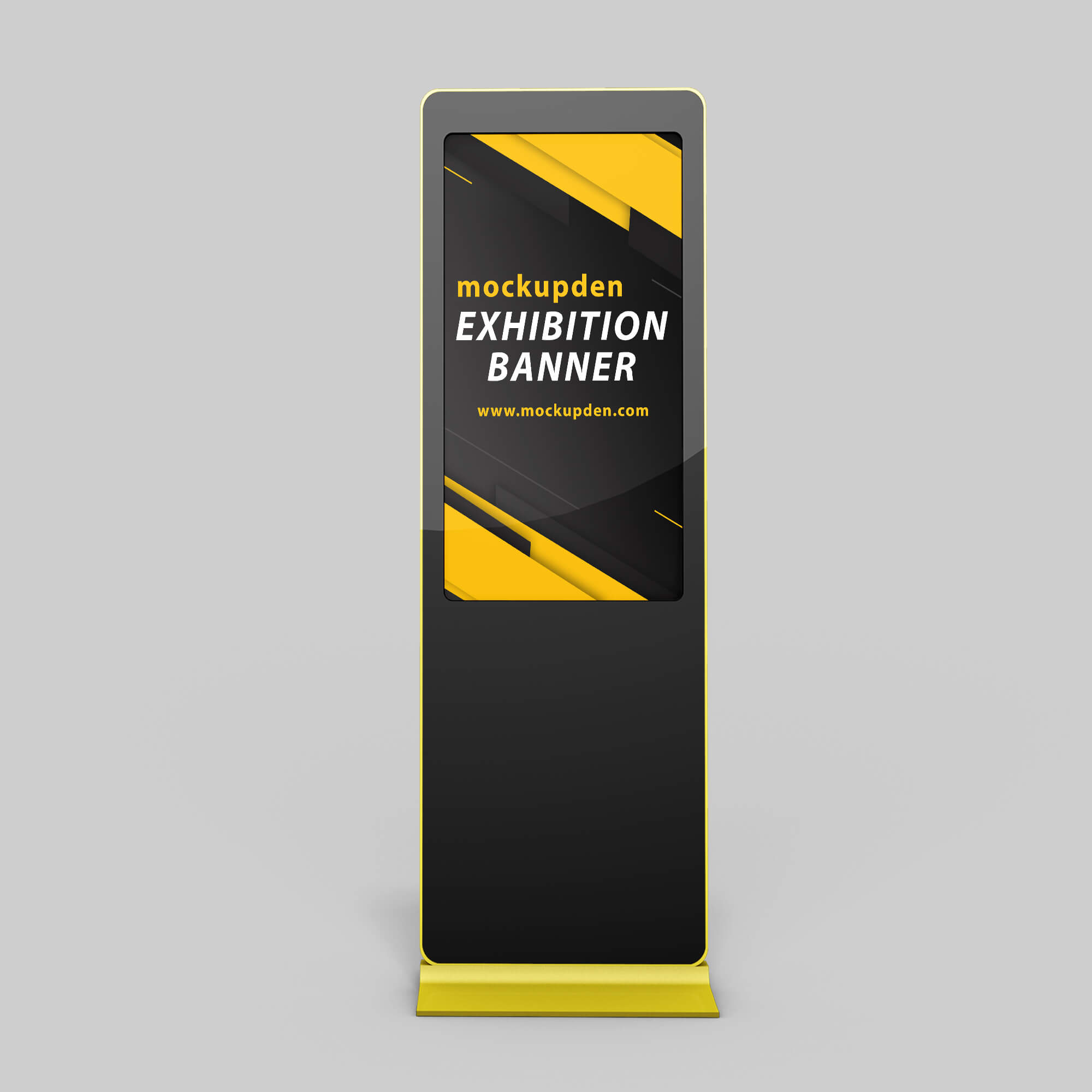 Design Free Exhibition Banner Mockup PSD Template