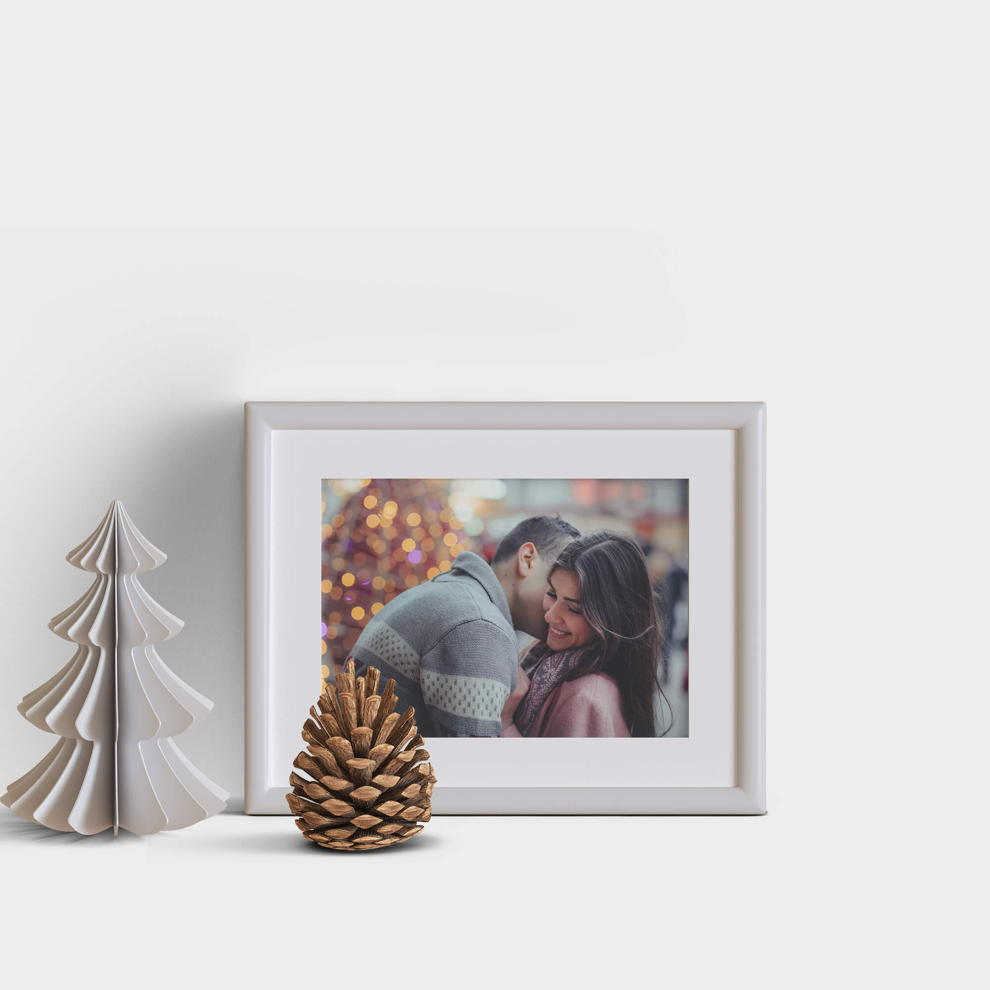 Design Free Holiday Greeting Frame Mockup PSD Template