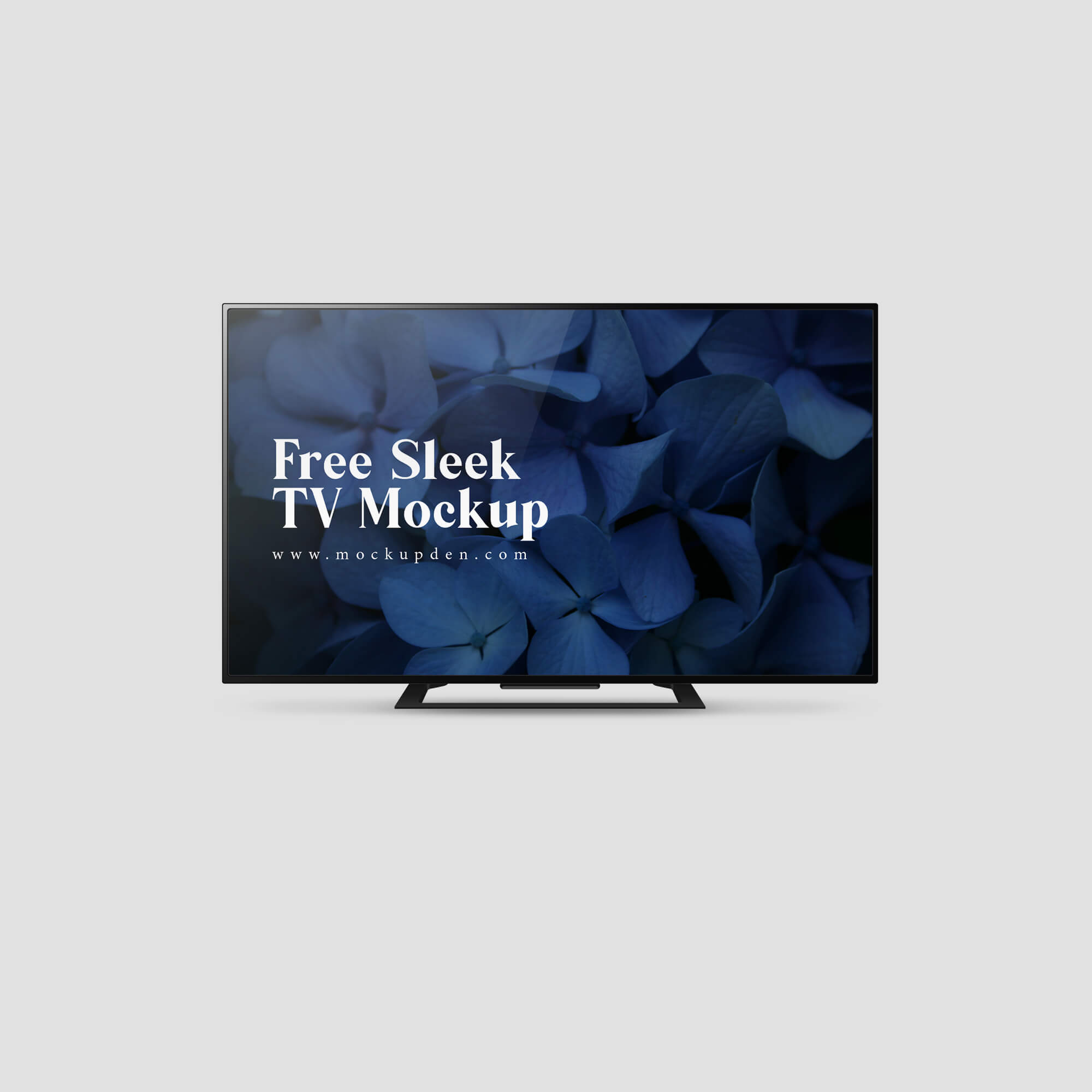 Design Free Sleek TV Mockup PSD Template