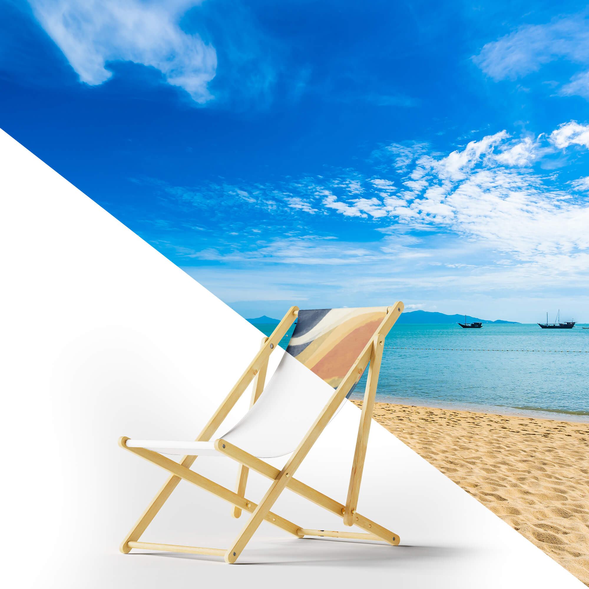 Editable Free Beach Chair Mockups PSD Template