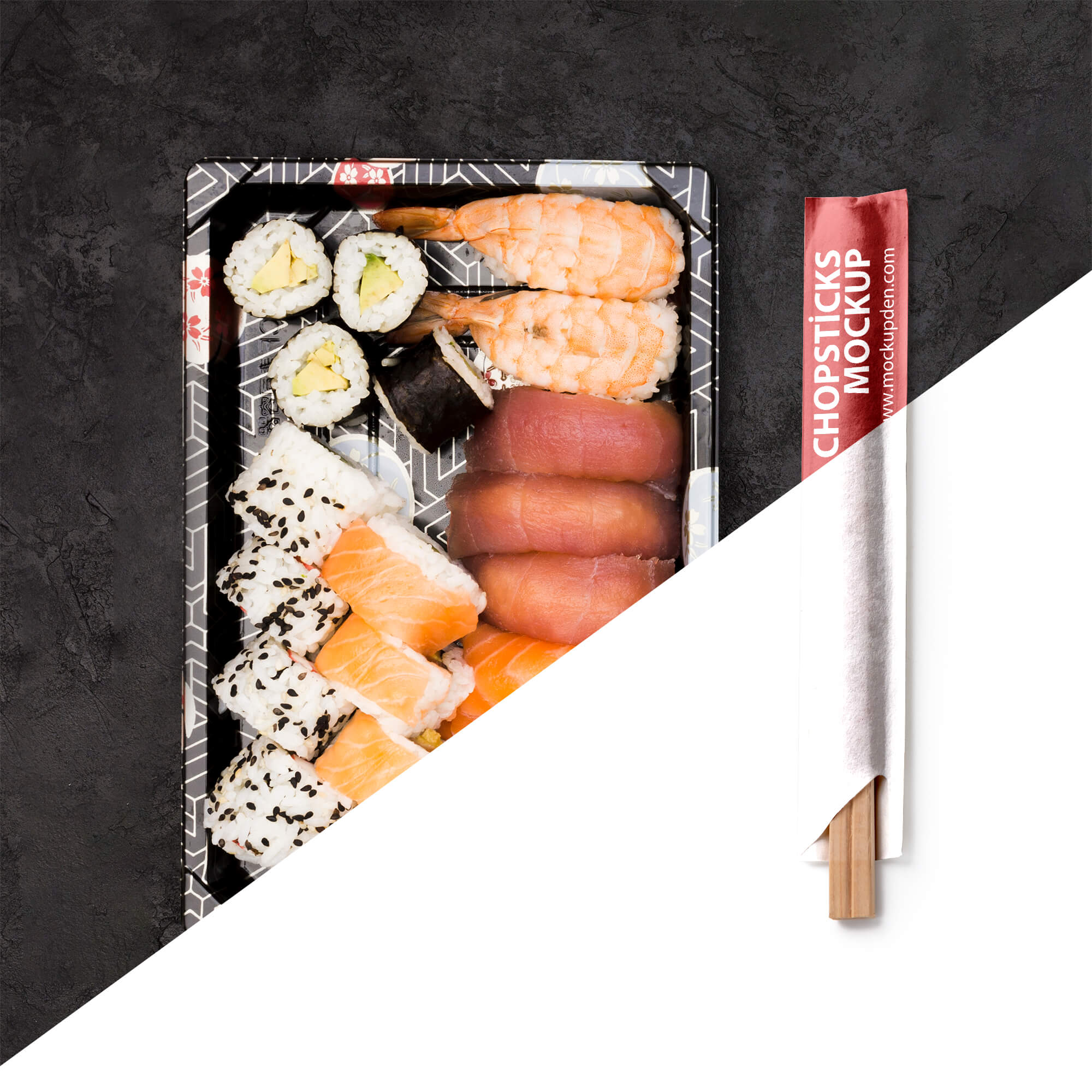 Editable Free Chopsticks Mockup PSD Template