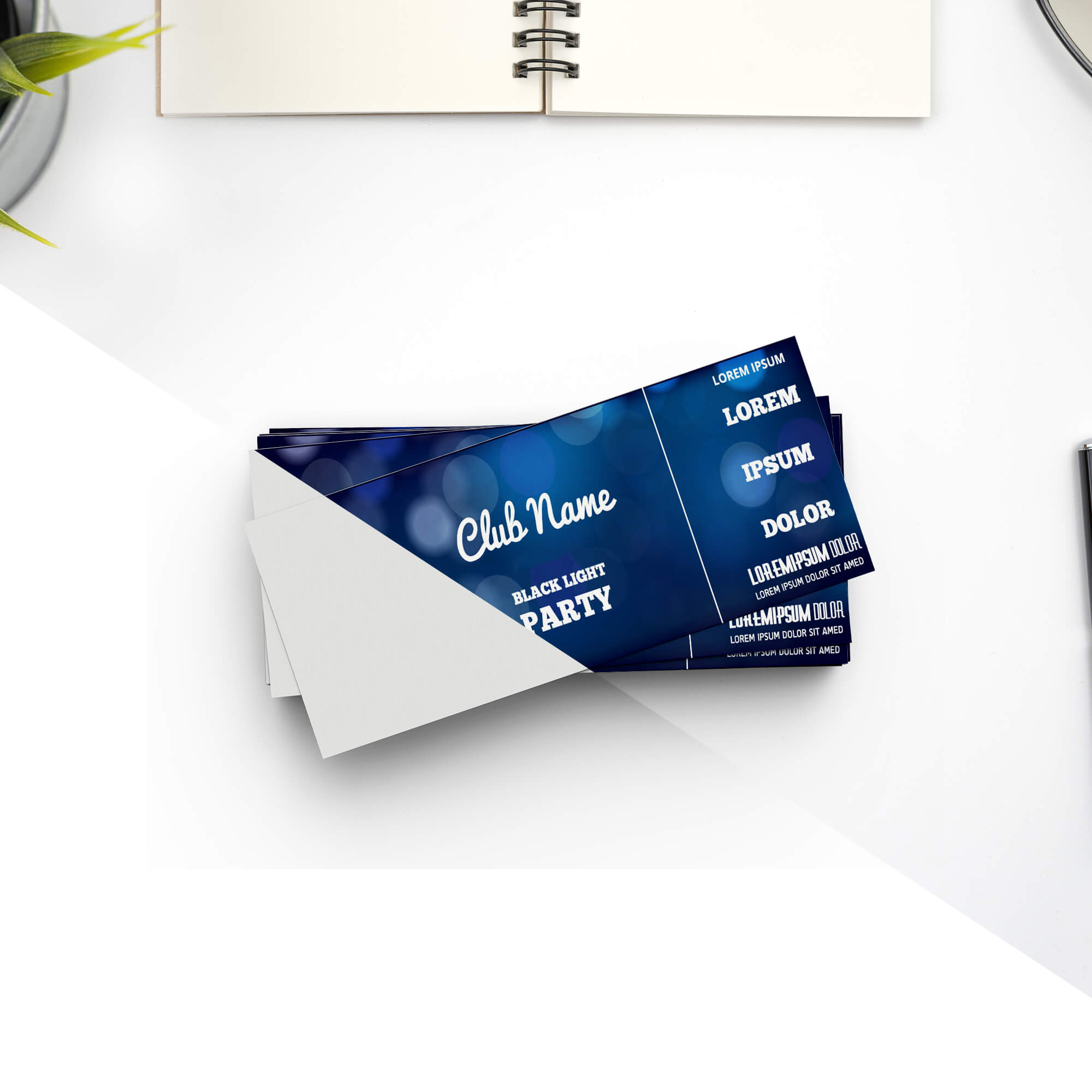 Editable Free Event Ticket Mockup PSD Template