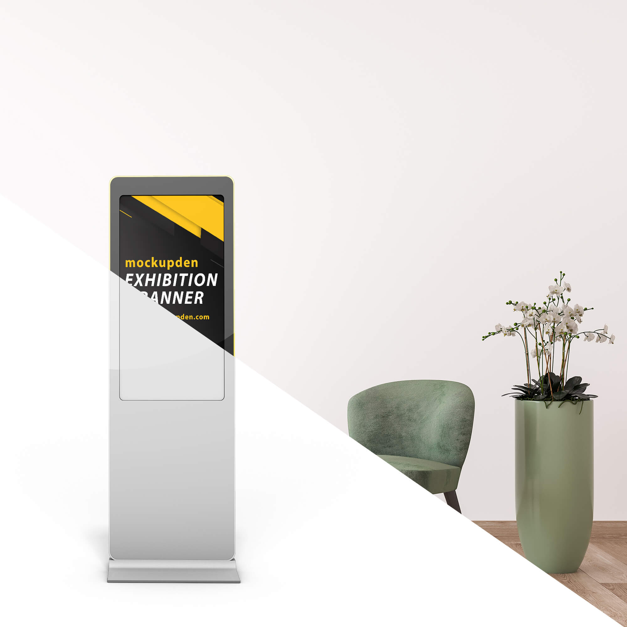 Editable Free Exhibition Banner Mockup PSD Template