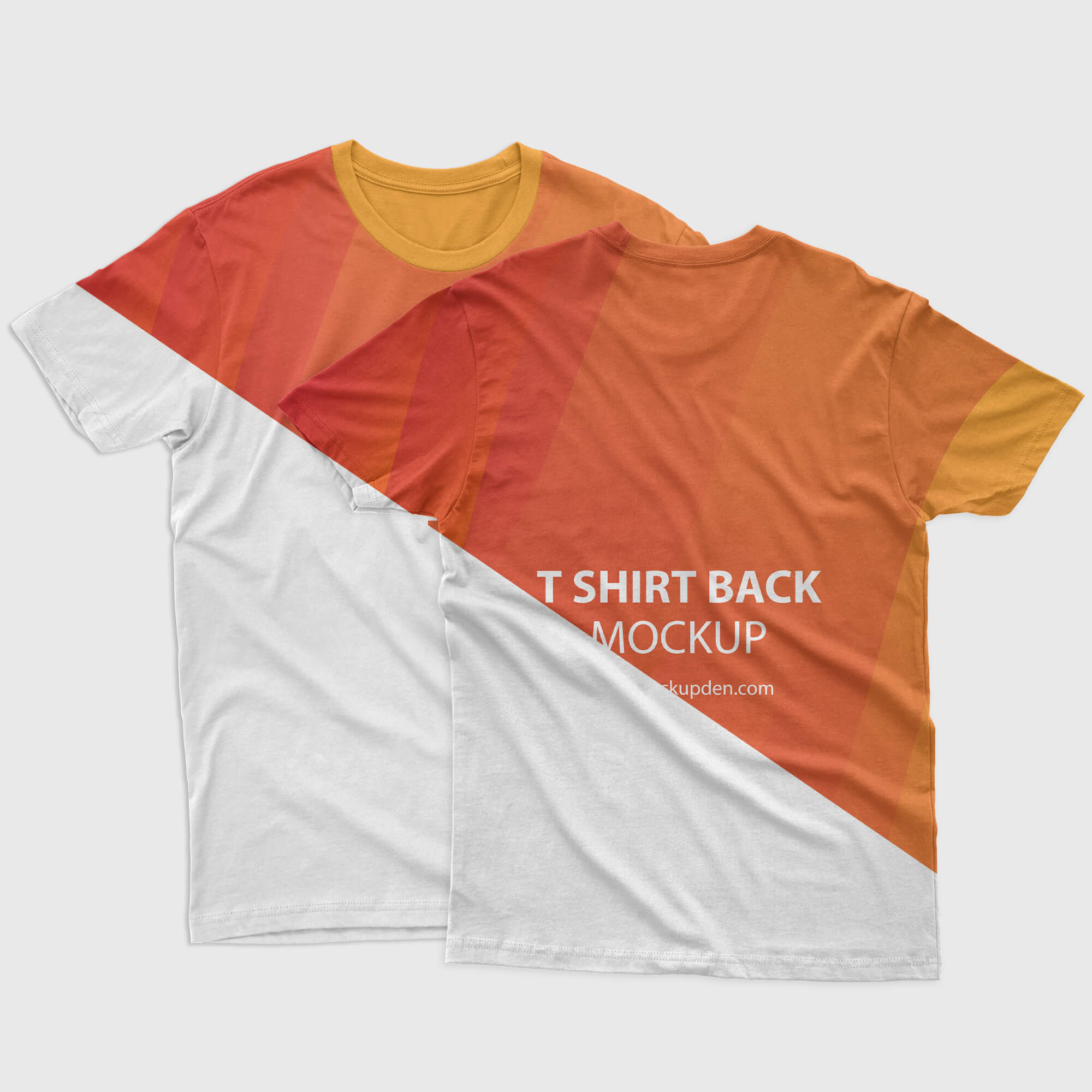 Editable Free Front Back T shirt Mockup PSD Template