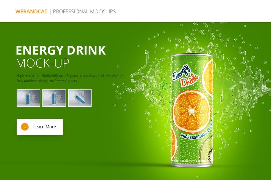 Energy Drink Can Mockup (3)