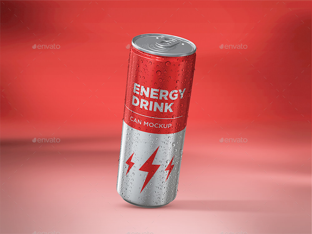 Energy Drink Can Mockup vol.2