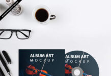 Free Album Art Mockup PSD Template