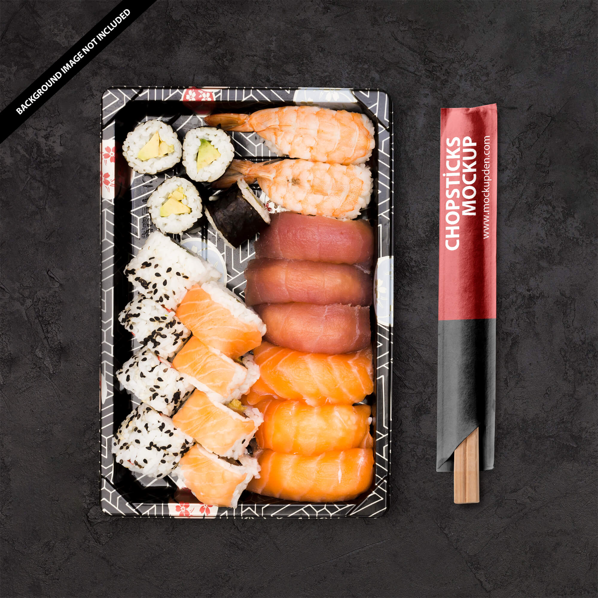 Free Chopsticks Mockup PSD Template