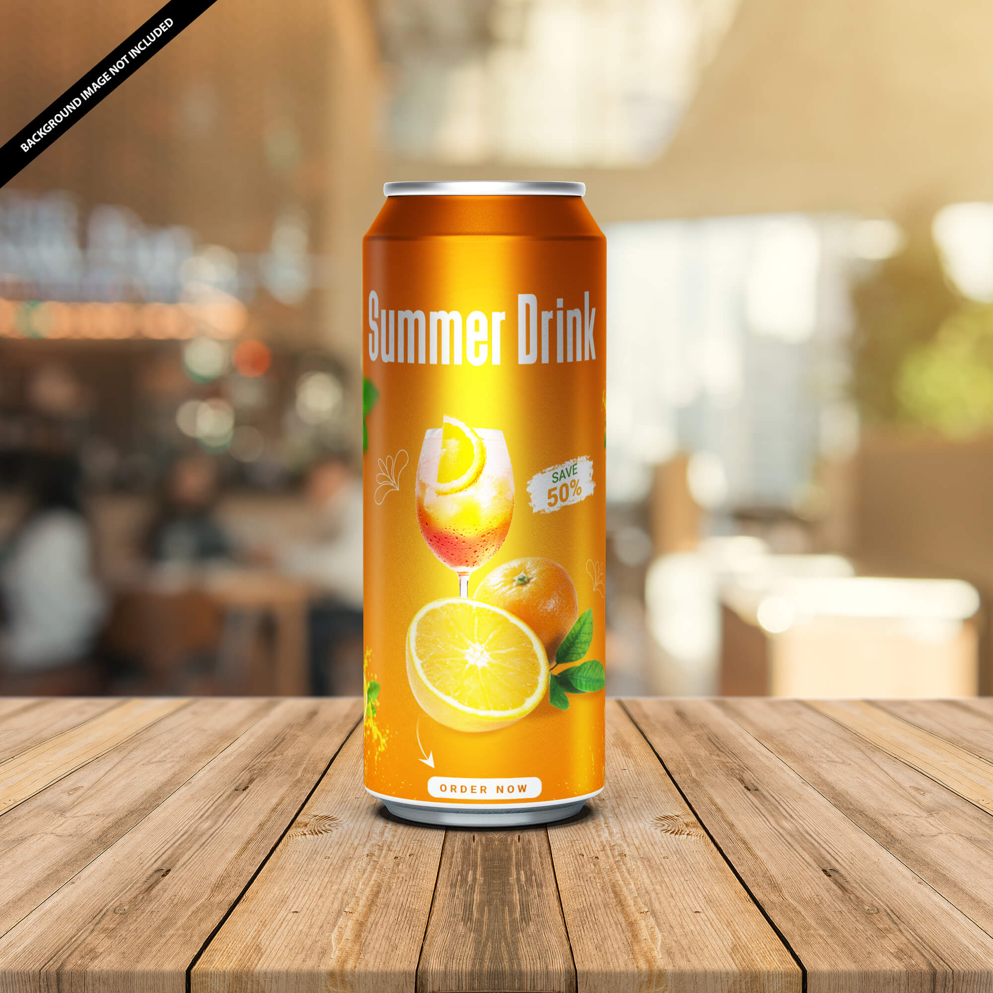 Free Energy Drink Can Mockup Vol 2 PSD Template