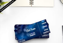 Free Event Ticket Mockup PSD Template