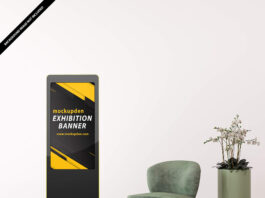 Free Exhibition Banner Mockup PSD Template