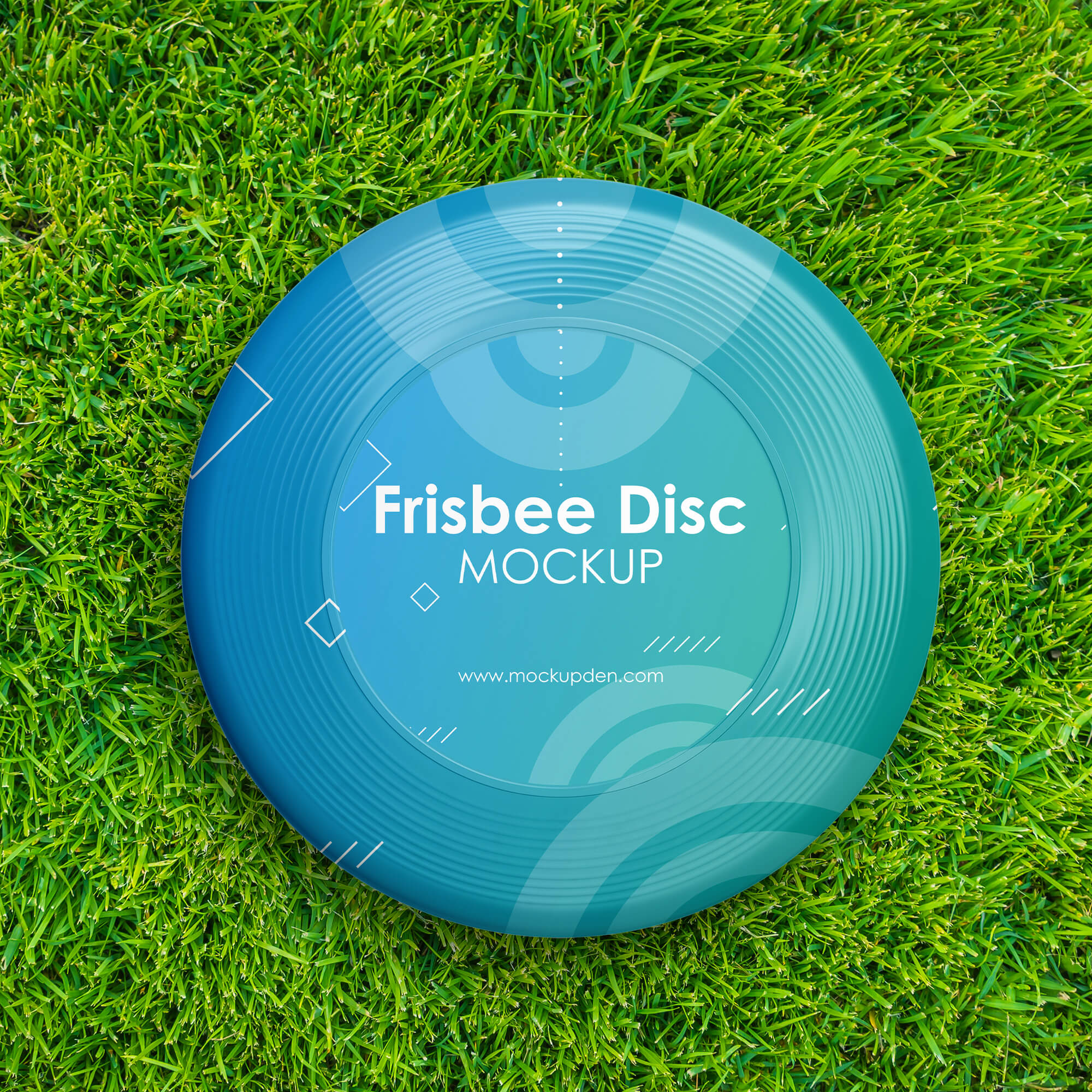 Free Frisbee Disc Mockup PSD Template