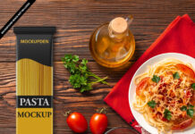 Free Pasta Mockup PSD Template