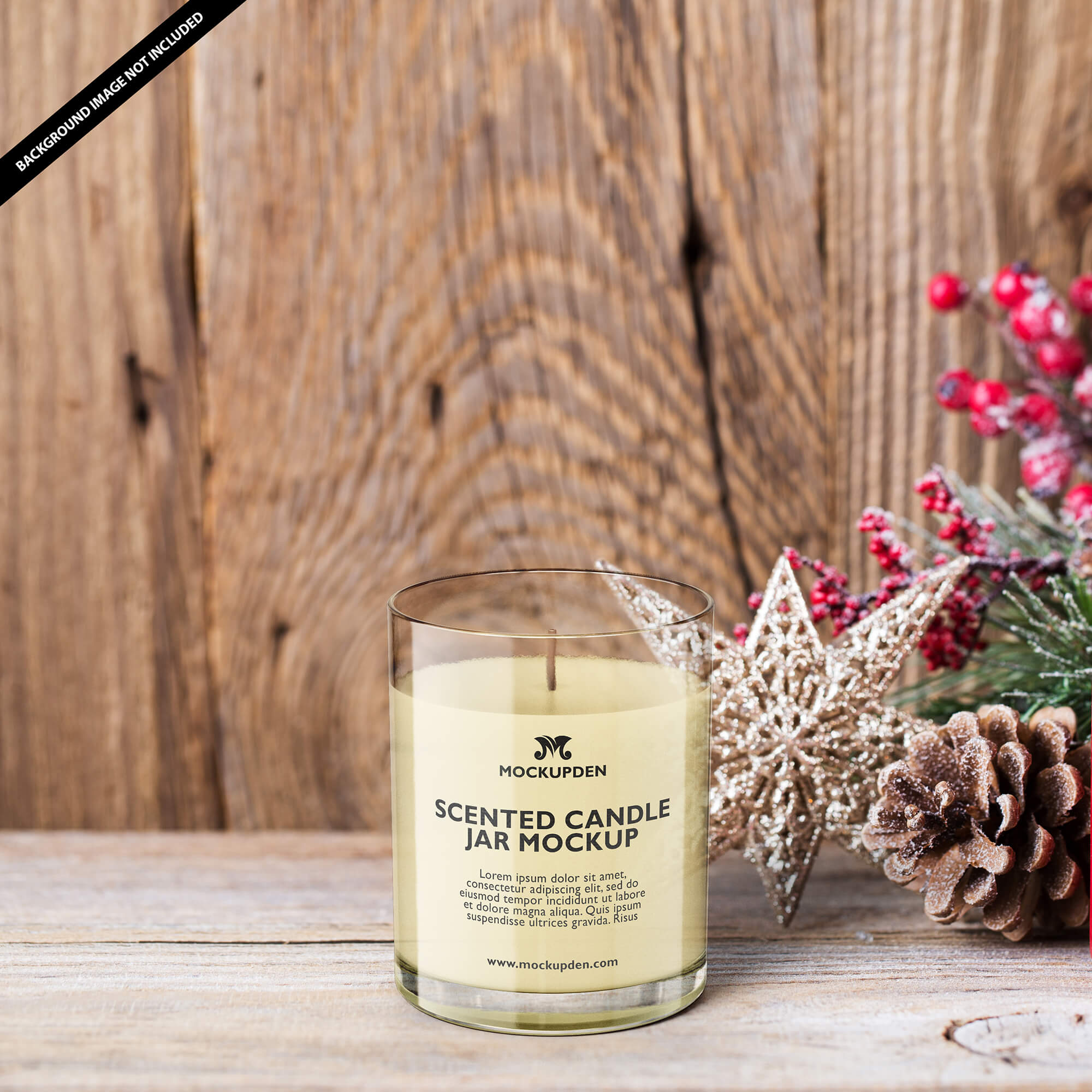 Free Scented Candle Jar Mockup PSD Template