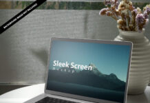Free Sleek Screen Mockup PSD Template