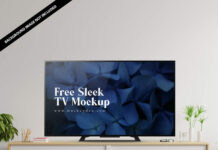 Free Sleek TV Mockup PSD Template
