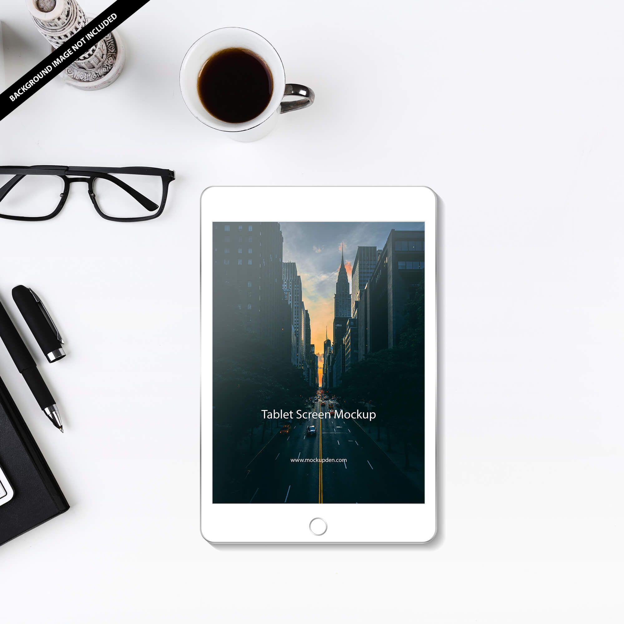 Free Tablet Screen Mockup PSD Template