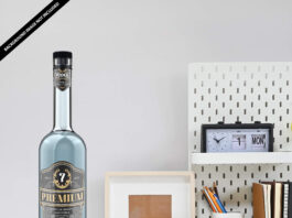 Free Vodka Mockup PSD Template