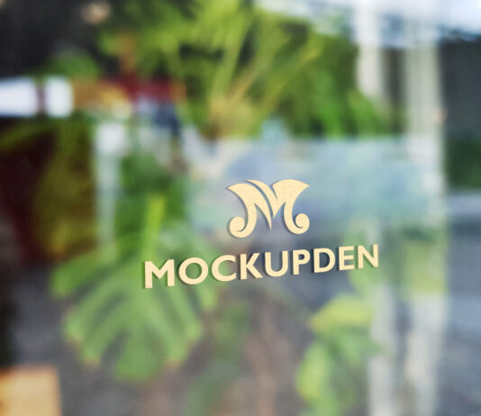 Free Window Signage Mockup PSD Template