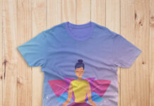 Free Yoga T Shirt Mockup PSD Template
