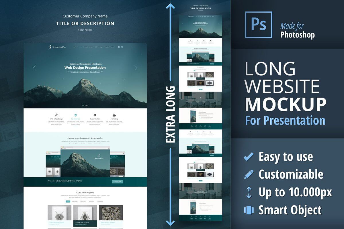 Long Website Mockup for Presentation (1)