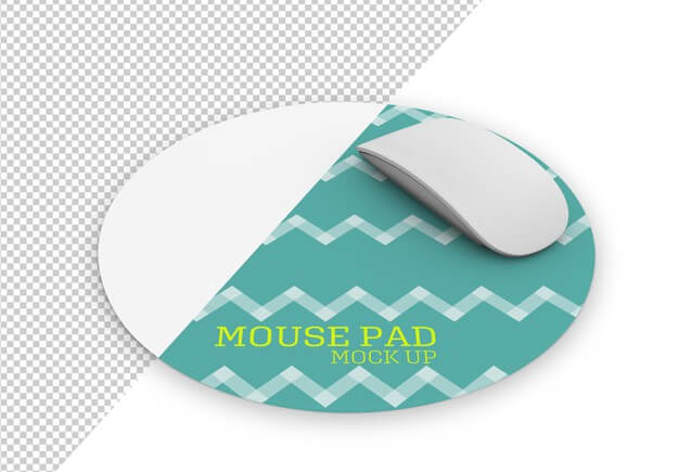 Rounded mousepad mock up Premium Psd