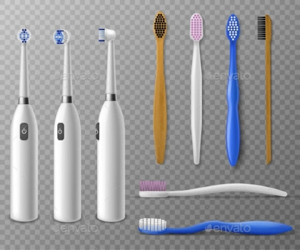 Toothbrushes Mockup