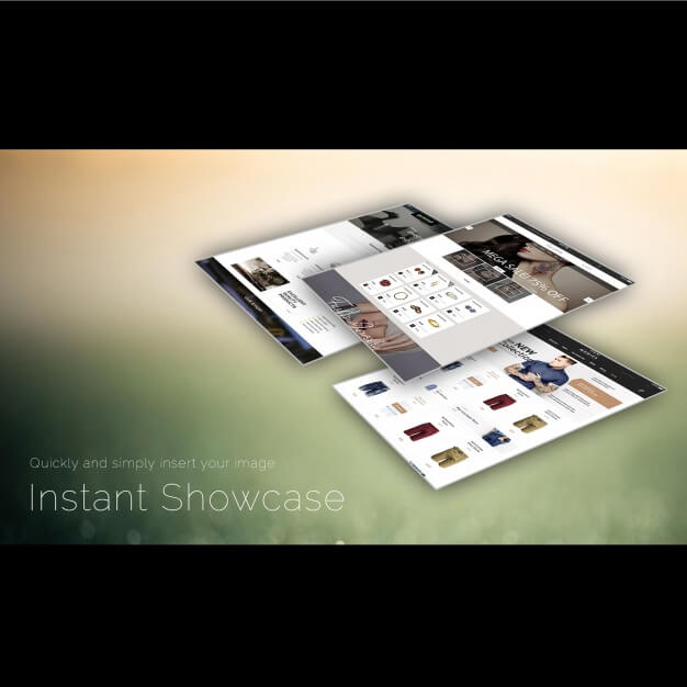Website template showcase Free Psd