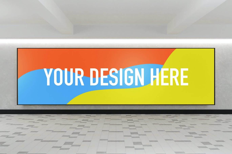 YDM Indoor Advertising Billboard Mockup