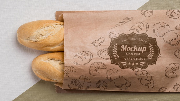 Bakery goods concept with mock-up Free Psd