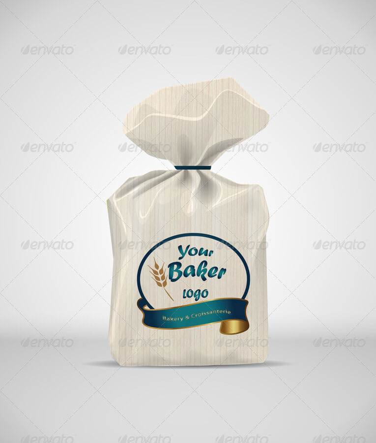 Bread Paper Bag Mock-up