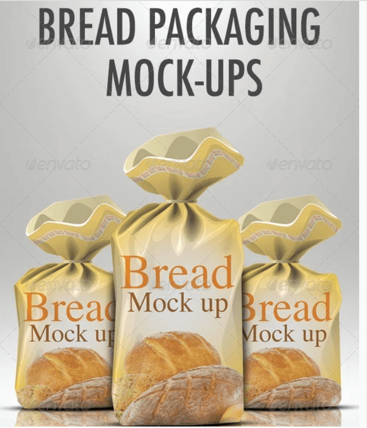 Bread packaging mock-up