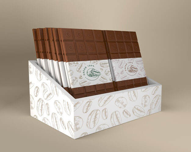 Chocolate box and paper packaging design Free Psd
