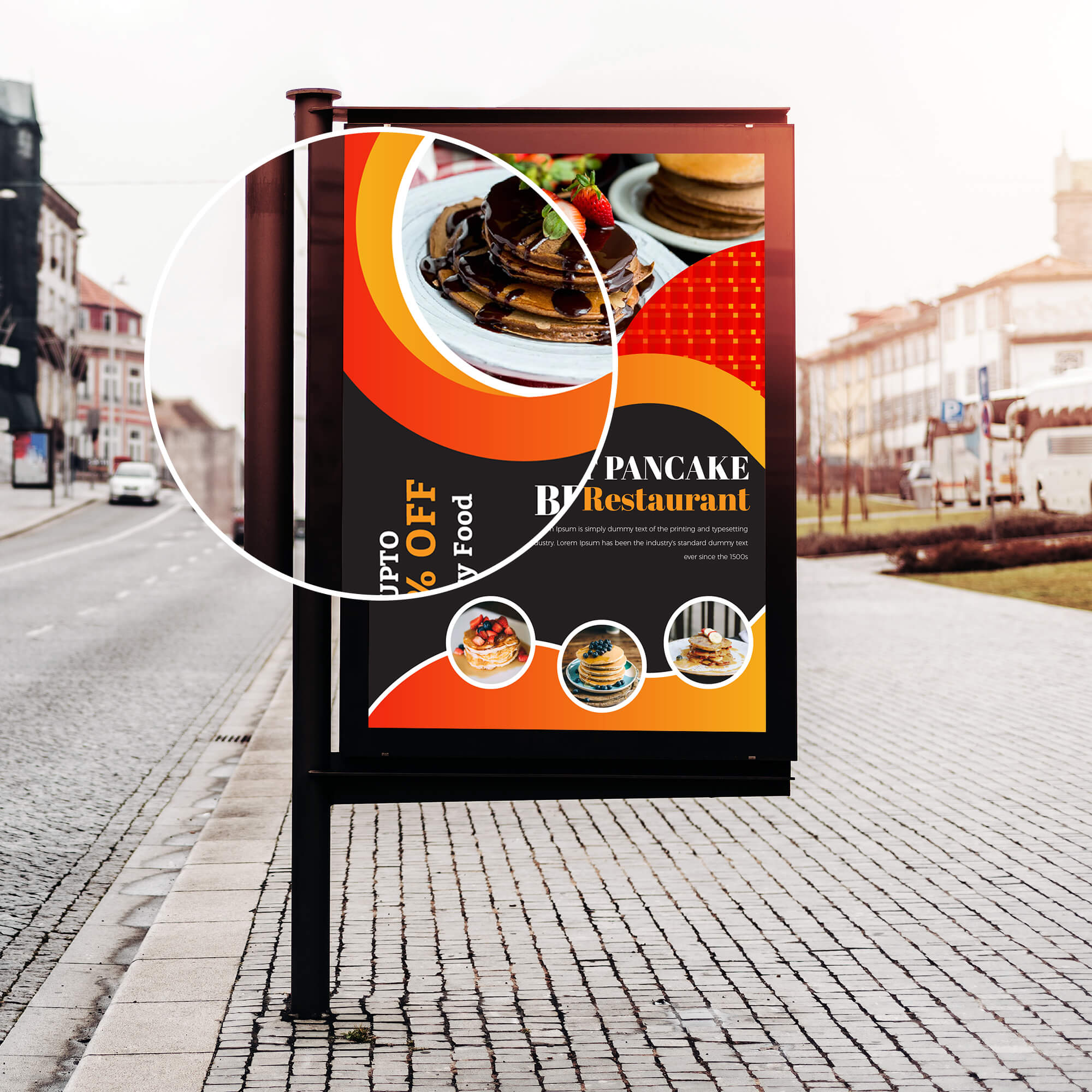 Close UP Of a Free AD Mockup PSD Template (3)