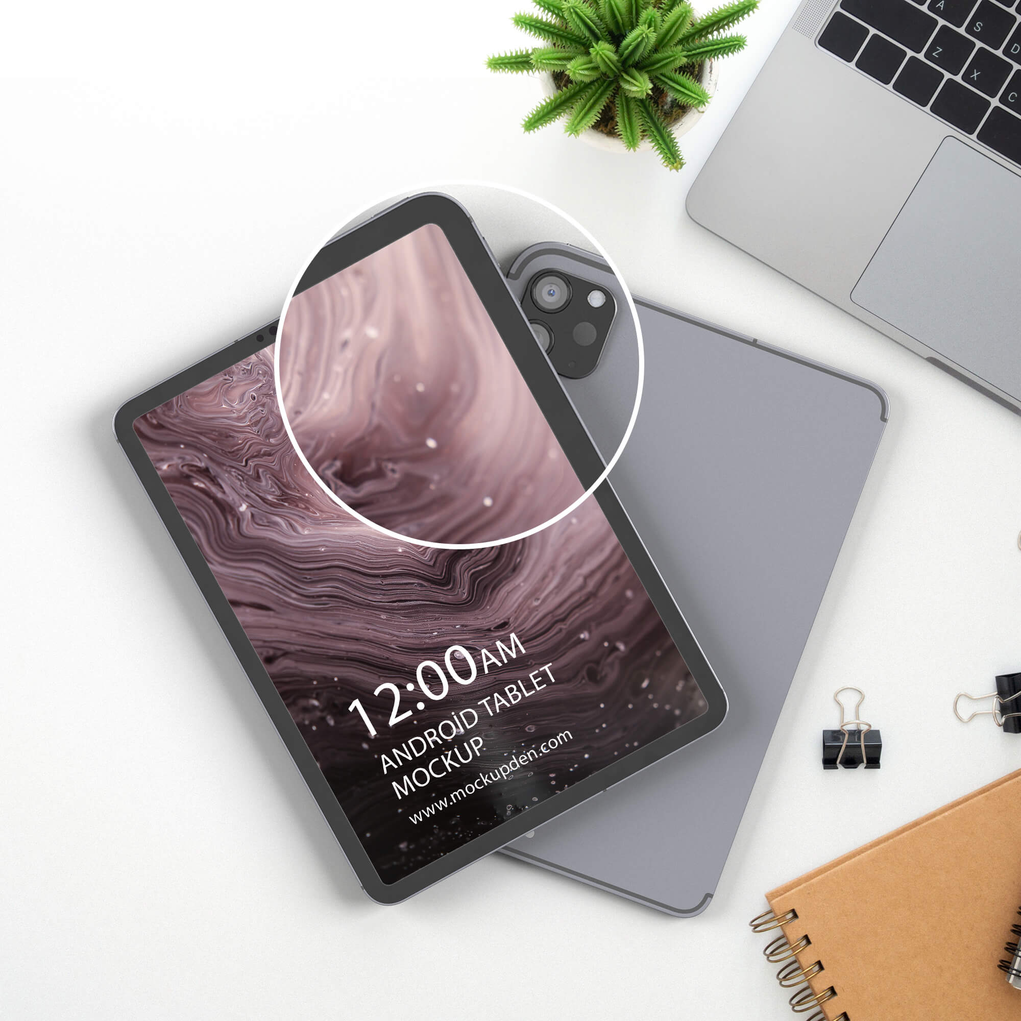 Close Up Of a Free Android Tablet Mockup PSD Template (1)