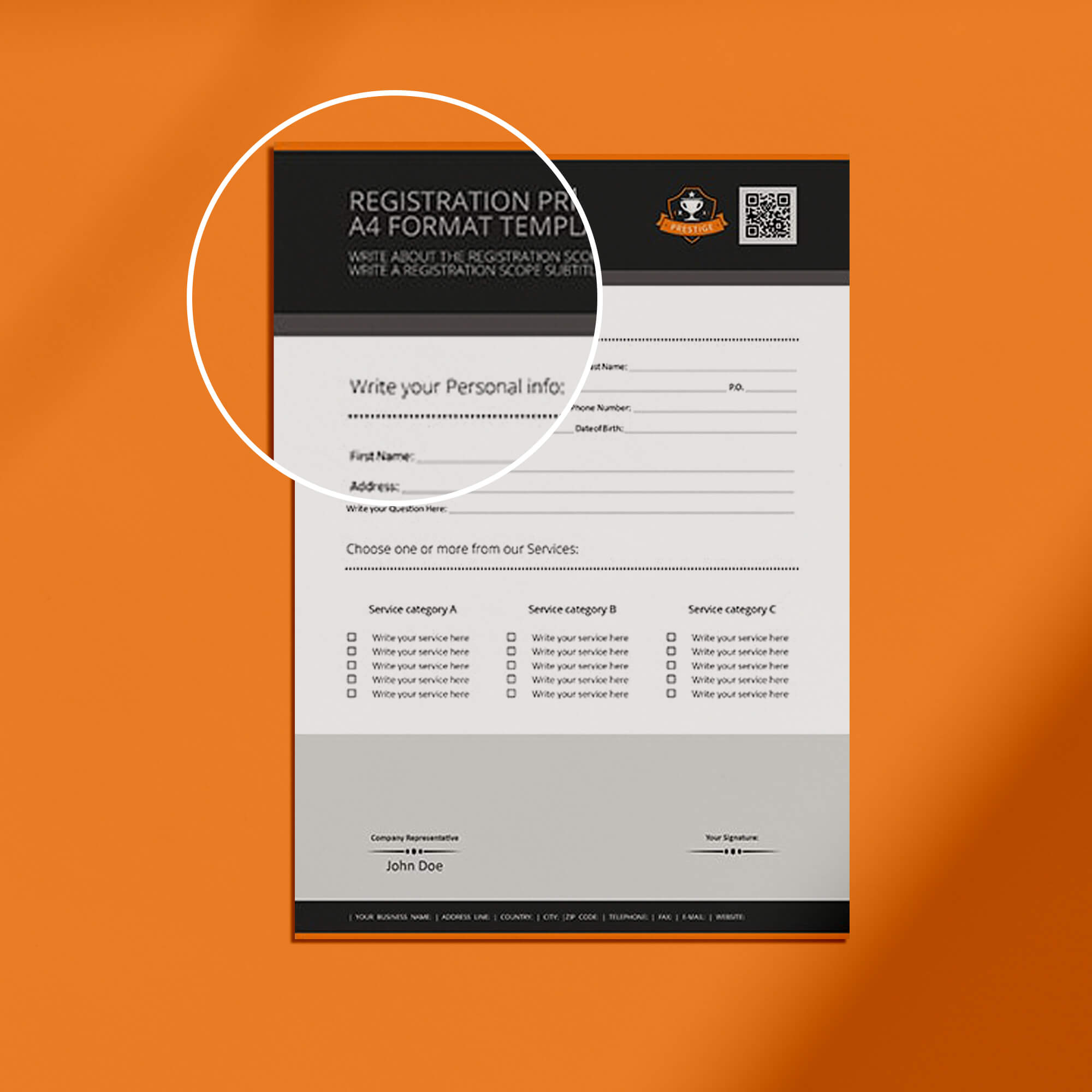 Close Up Of a Free Forms Mockup PSD Template