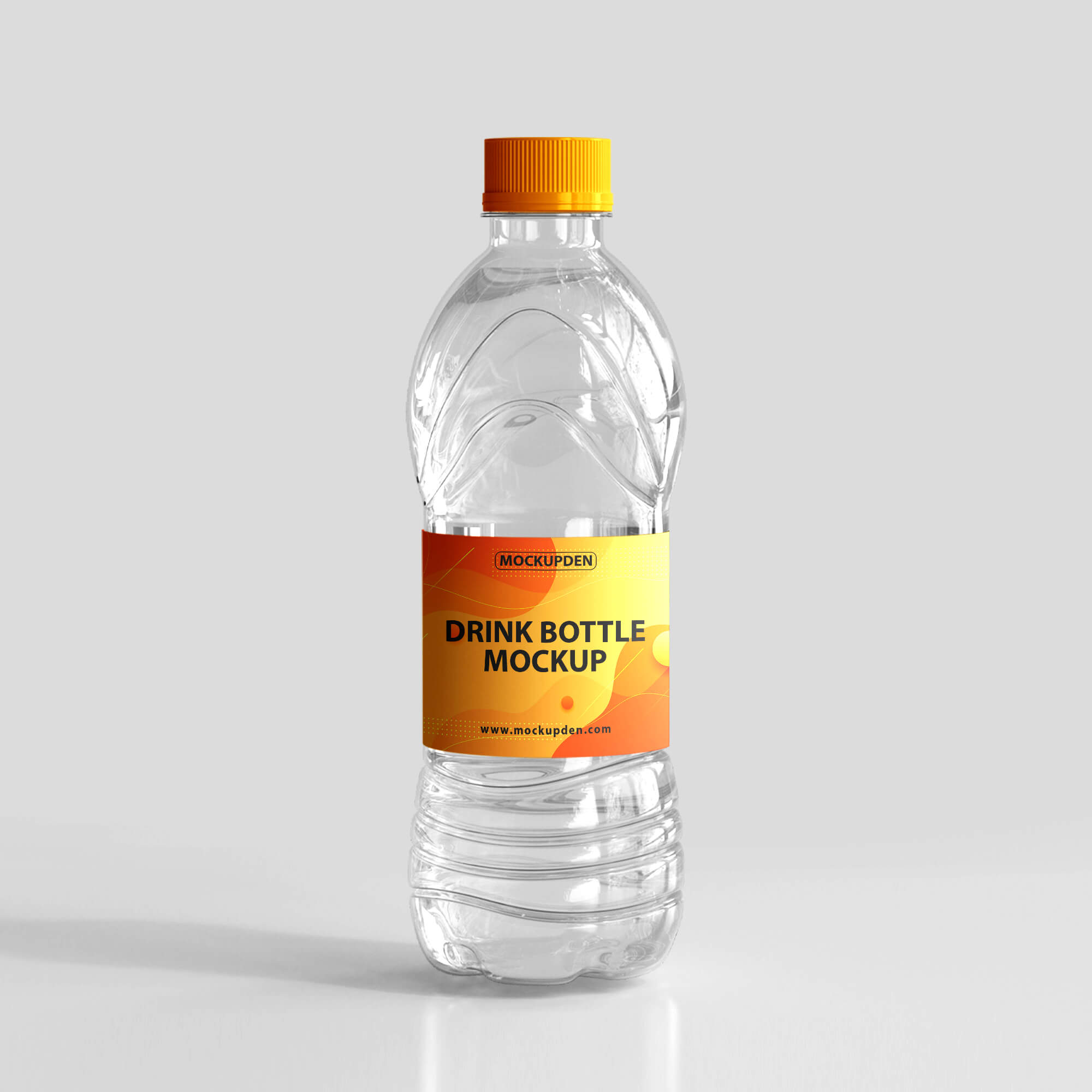 Design Free Drink Bottle Mockup PSD Template