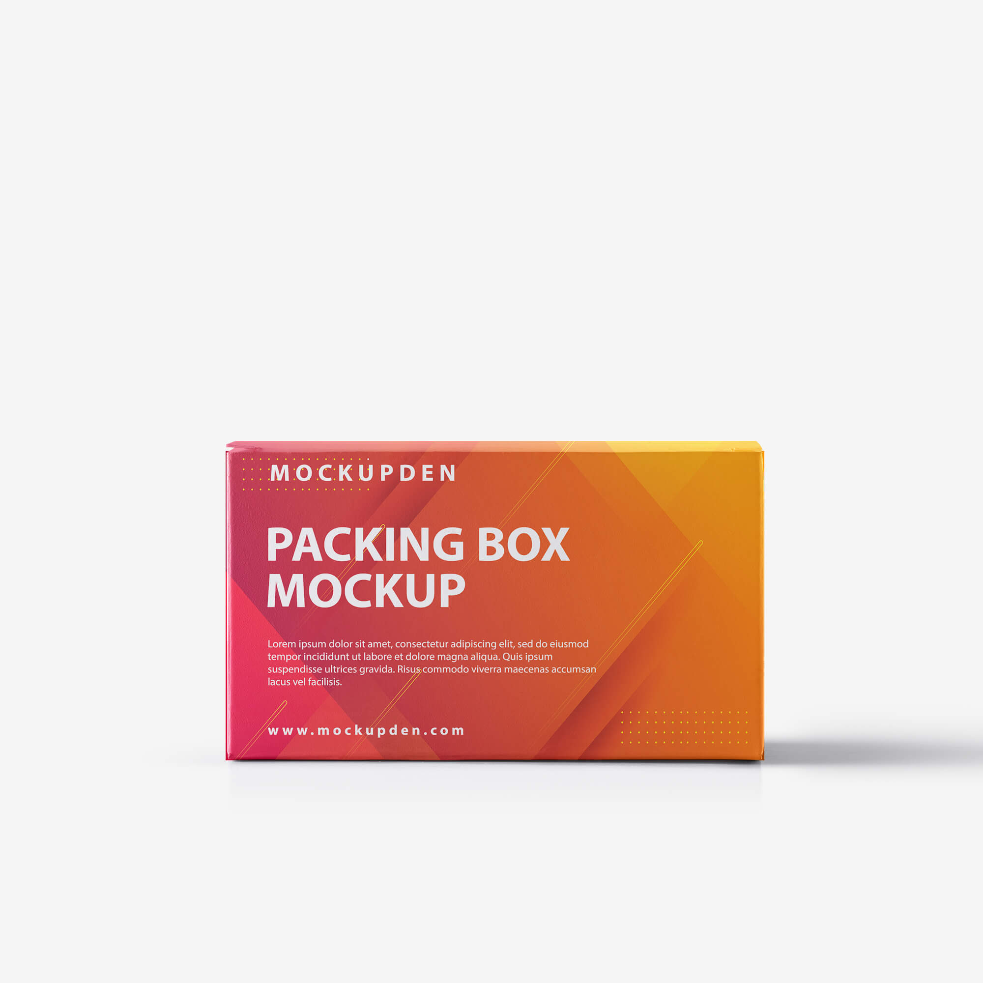 Design Free Packing Box Mockup PSD Template