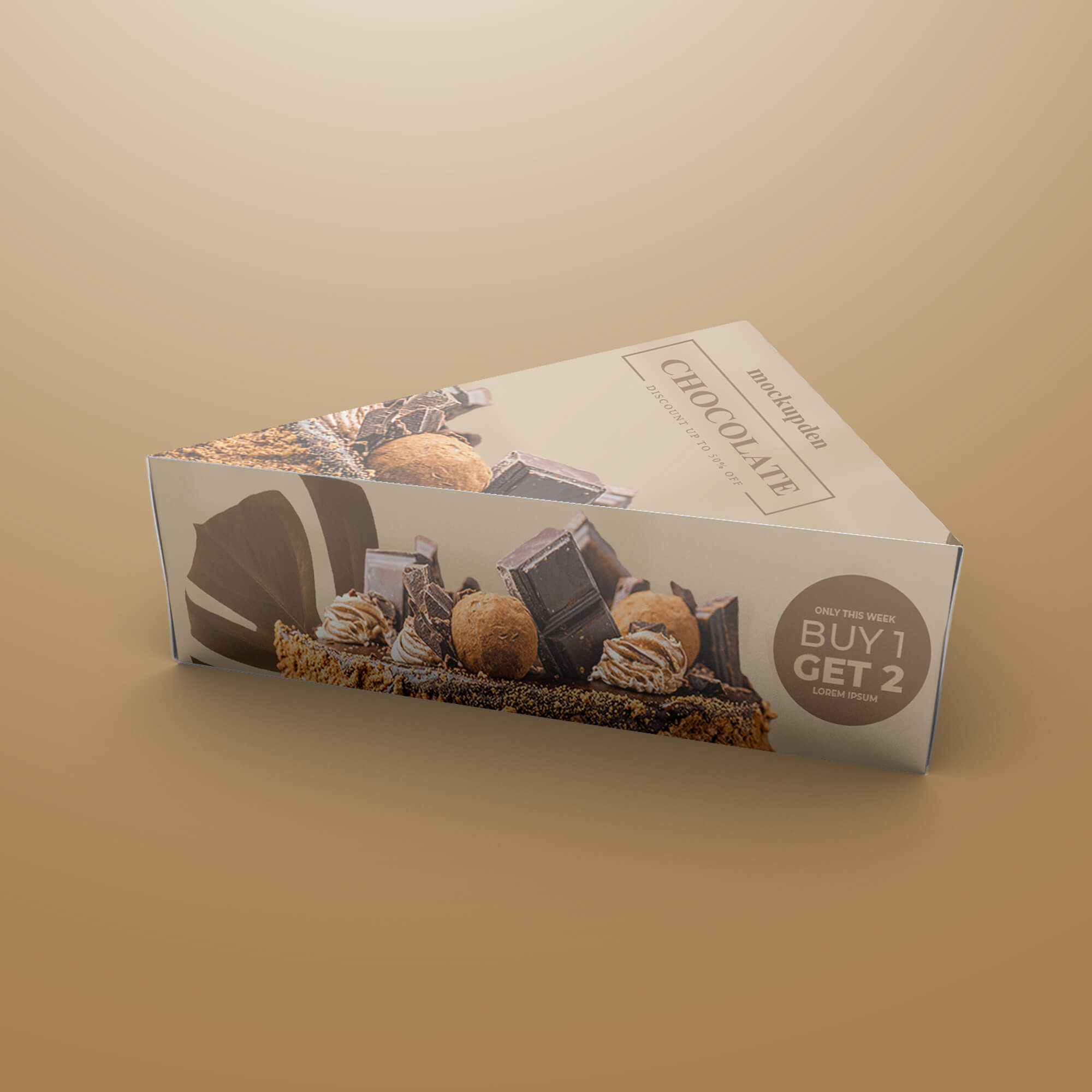 Design Free Pastry Box Mockup PSD Template