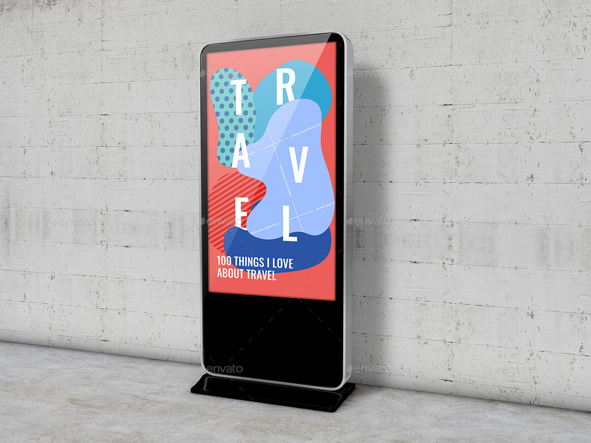 Digital Monitor Screen Standee Mockup - for Exhibition or Show Case